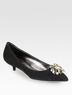 Dolce & Gabbana - Crystal-Coated Suede Pumps