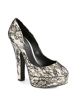 Dolce & Gabbana - Lace Platform Pumps