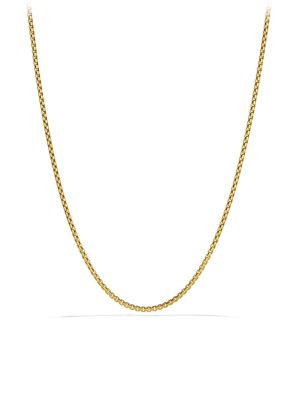 Small Box Chain Necklace in Gold