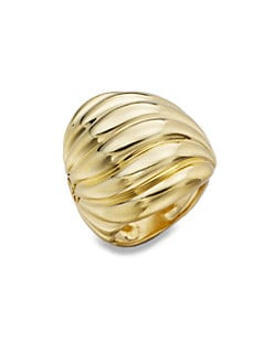 David Yurman - 18K Yellow Gold Sculpted Cable RIng