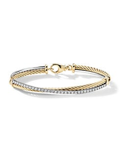David Yurman - Diamond & 18K Yellow Gold Bracelet