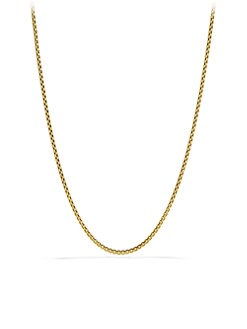 David Yurman - 18K Yellow Gold Box Chain Necklace
