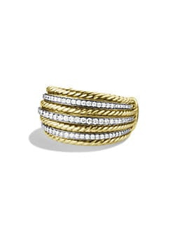 David Yurman - Diamond Accented  Banded Ring