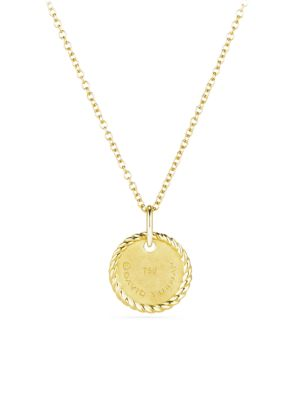 18K Yellow Gold Initial Pendant Necklace