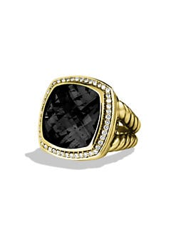 David Yurman - Black Onyx, Diamond & 18K Yellow Gold Ring