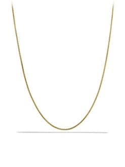 David Yurman - 18K Gold Box Chain Necklace