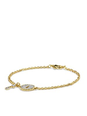 Cable Collectibles Lock Bracelet with Diamonds in Gold