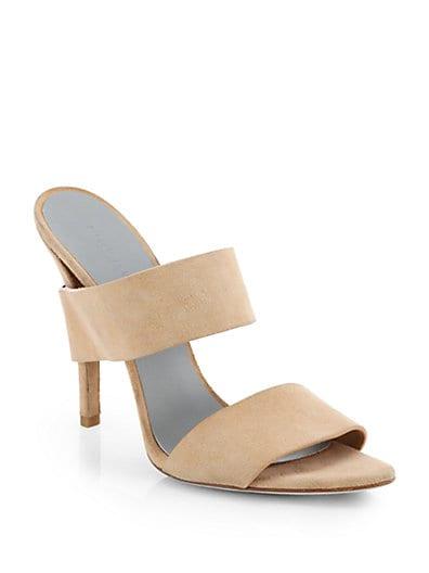 Masha Truffle Suede Sandals