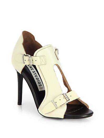 Kayla Leather Buckle Sandals