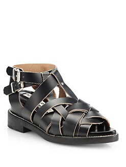 Acne Studios - Lenna Woven Leather Sandals