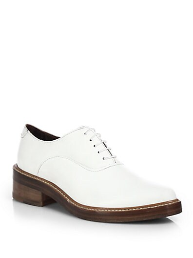 Carla Leather Lace-Up Oxfords