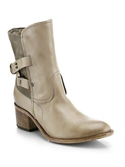 Alberto Fermani - Zonza Leather & Suede Buckle Boots