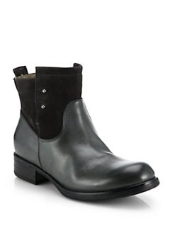Alberto Fermani - Sondrio Leather & Suede Mid-Calf Boots