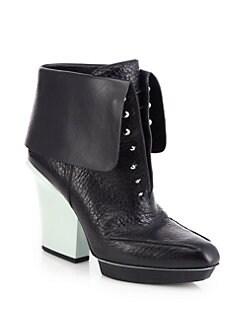 3.1 Phillip Lim - Juno Leather Fold-Over Ankle Boots