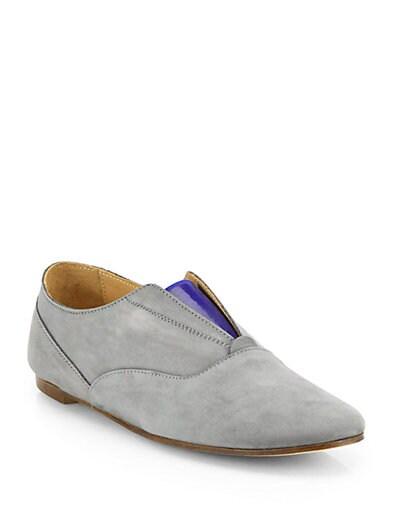 Suede Bicolor Loafers