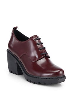 Opening Ceremony - Grunge Leather Lace-Up Ankle Boots