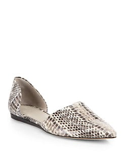 Jenni Kayne - Snake-Embossed Leather d'Orsay Flats