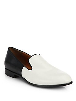 Marc by Marc Jacobs - Clean Sexy Leather Slip-On Loafers