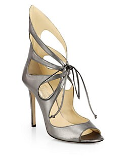 Alejandro Ingelmo - Mariposa Metallic Leather Sandals