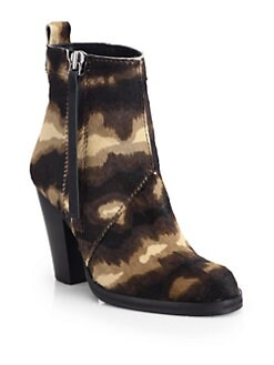 Acne Studios - Colt Pony-Printed Calf Hair Ankle Boot