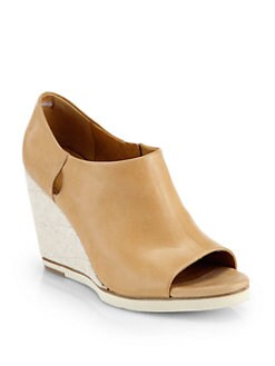 Coclico - Neese Leather Open-Toe Wedge Ankle Boots