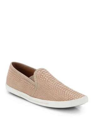 Kidmore Crocodile-Embossed Leather Sneakers