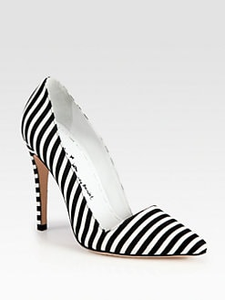 Alice + Olivia - Striped Canvas Pumps