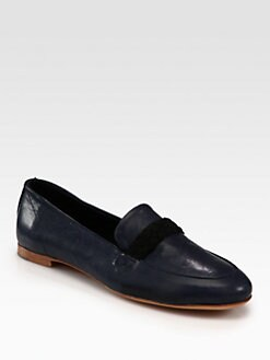 Rag & Bone - Saville Leather & Braided Suede Loafers