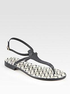 Alice + Olivia - Bria Leather Thong Sandals