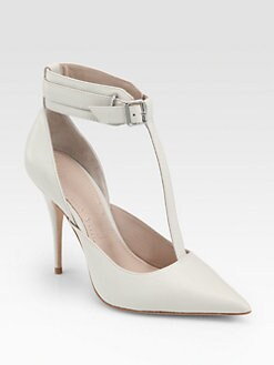 Elizabeth and James - Saucy Leather T-Strap Pumps