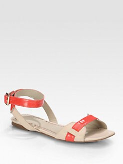 Elizabeth and James - Paige Patent & Leather Ankle Strap Sandals