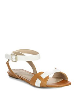 Elizabeth and James - Paige Leather Ankle Strap Sandals