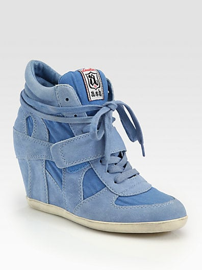 Bowie Suede Wedge Sneakers