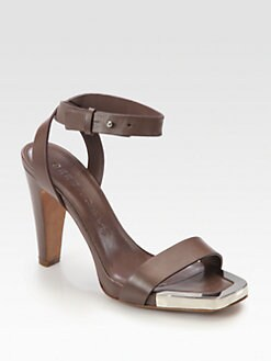 See by Chloe - Leather Ankle Strap Platform Sandals