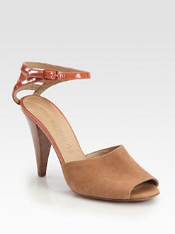 See by Chloe - Suede & Patent Leather Ankle Strap Sandals