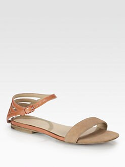 See by Chloe - Bicolor Patent Leather & Suede Sandals