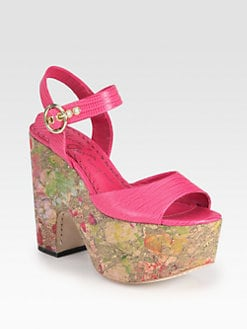 Alice + Olivia - Quinley Lizard-Print Leather Paint Splatter Sandals