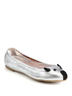 Marc by Marc Jacobs - Metallic Leather Mouse Ballet Flats