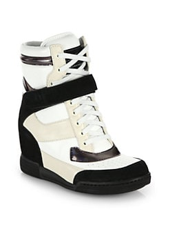 Marc by Marc Jacobs - Leather & Suede Wedge Sneakers