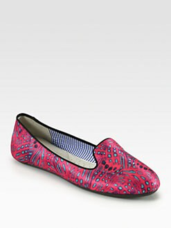 Charles Philip Shanghai - Yasmine Satin Smoking Slippers