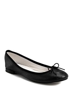 Repetto - BB Distressed Leather Ballet Flats
