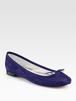 Repetto - BB Metallic Suede Ballet Flats