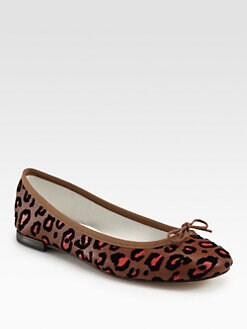 Repetto - BB Leopard-Print Leather & Velvet Ballet Flats