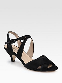 Repetto - Solange Crisscross Metallic Suede Sandals