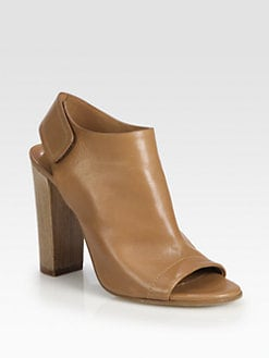Vince - Astrid Leather Slingback Ankle Boots