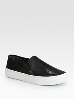 Vince - Blair Perforated Leather Sneakers