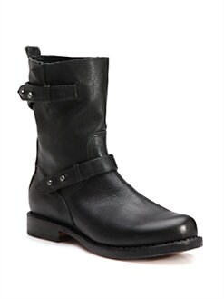 Rag & Bone - Leather Moto Ankle Boots