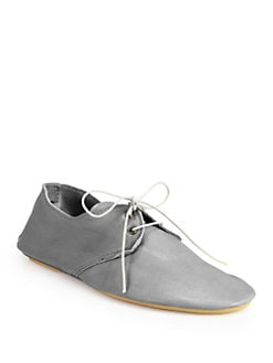 Anniel - Leather Lace-Up Oxfords