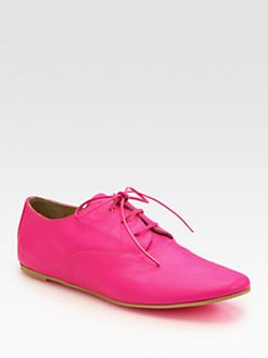 Maison Martin Margiela MM6 - Neon Leather Lace-Up Oxfords