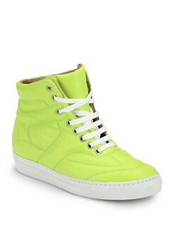 Maison Martin Margiela MM6 - Neon Leather High Top Sneakers